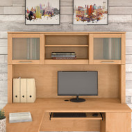 """Bush Somerset Collection Hutch for L-Shaped Desk 60"""" Maple Cross - WC81431"""