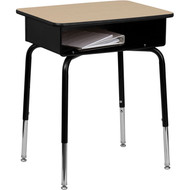 Flash Furniture Student Desk with Open Front Metal Book Box - FD-DESK-GG