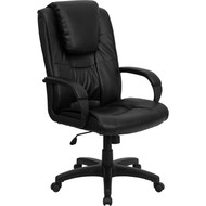 Flash Furniture High Back Black Leather Executive Office Chair - GO-5301BSPEC-CH-BK-LEA-GG