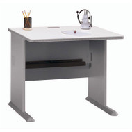 "Bush Business Furniture Series A Desk 36"" Pewter - WC14536"