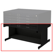 Safco Open Flat File Base for Flat File 4986 & 4996 Black Finish - 4977BLR