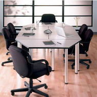 Bush Aspen Conference Table Package 5 - White Spectrum finish - ASPEN5