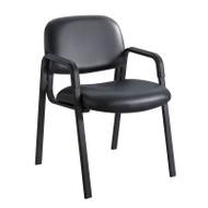 Safco Cava Urth Straight Leg Guest Chair Black Vinyl - 7046BV
