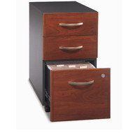 Bush Business Furniture Series C Mobile File Cabinet 3-Drawer Hansen Cherry Assembled - WC24453SU