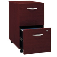 Bush Business Furniture Series C Mobile File Cabinet 2-Drawer Mahogany Assembled - WC36752SU
