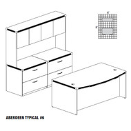 Mayline Aberdeen Executive Desk Package Maple - AT6-LMA