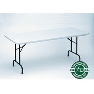 Correll R-Series Heavy Duty Blow-Molded Plastic Folding Table 30 x 60 - R3060