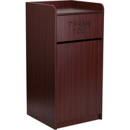 Flash Furniture Indoor Laminate Waste Receptacle Mahogany - MT-M8520-TRA-MAH-GG