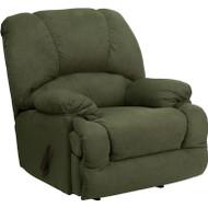 Flash Furniture Contemporary Glacier Olive Microfiber Chaise Rocker Recliner - AM-9700-7903-GG