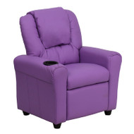 Flash Furniture Kid's Recliner with Cup Holder Lavender Vinyl - DG-ULT-KID-LAV-GG