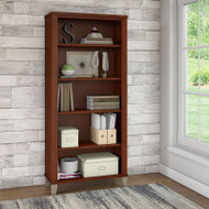 Bush Somerset Collection Bookcase 5-Shelf Hansen Cherry - WC81765