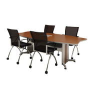 Mayline Transaction Series Conference Table 8' Boat Shaped Technology Intensive - TAC8TB