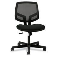 HON Volt Series Mesh Back Task Chair with Sychro-Tilt without Arms Black Fabric - 5713GA10T
