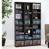 Atlantic Oskar Media Cabinet 756 CD or 360 DVD or Blu-Ray or Games in Espresso - 38435713