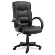 Alera Strada Series High-Back Chair Black Leather - SR41LS10B