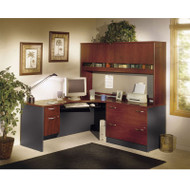 Bush Business Furniture Series C Package Executive L-Shaped Corner Desk Hansen Cherry - HCPackageE