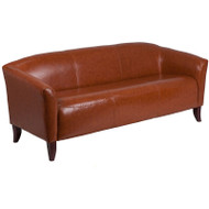 Flash Furniture Hercules Imperial Series Cognac LeatherSoft Sofa - 111-3-CG-GG