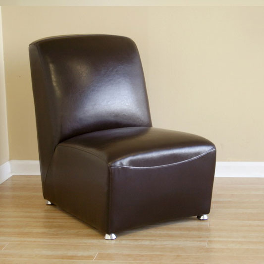 Fabulous Wholesale Interiors Escalus Leather Armless Accent Chair In Dark Brown A 71 001 Alphanode Cool Chair Designs And Ideas Alphanodeonline