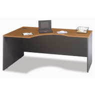 "Bush Business Furniture Series C Corner Desk Left  in Natural Cherry 72""W - WC72432"