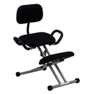 Flash Furniture Ergonomic Kneeling Chair with Handles in Black - WL-3439-GG