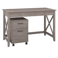 Bush Key West 48W Writing Desk with 2 Drawer Mobile Pedestal - KWS001WG