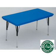 Correll Blow-Molded Plastic Top Activity Table 30 x 96 - AR3096-REC