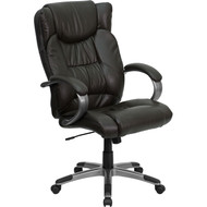 Flash Furniture High Back Espresso Brown Leather Executive Office Chair - BT-9088-BRN-GG