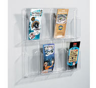Safco Deluxe Clear Display - 8 Pamphlet Pockets - 5608CL