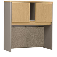 "Bush Business Furniture Series A Hutch 36"" Light Oak - WC64337P"