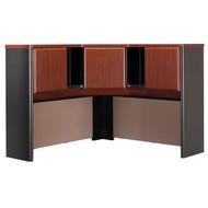 "Bush Business Furniture Series A Corner Hutch 48"" Hansen Cherry - WC94467PK"