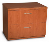 "Mayline Aberdeen Lateral File Cabinet 36"" Free Standing Cherry Finish - AFLF36-LCR"