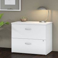 "Bush Business Furniture Studio C Lateral File Assembled 36"" White - SCF136WHSU"