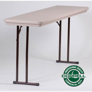 Correll R-Series Heavy Duty Blow-Molded Plastic Seminar Table 18 x 72 - R1872