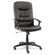 Alera York Series High-Back Swivel / Tilt Chair Black Leather - YK41LS10B