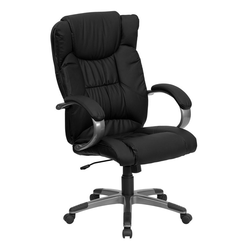 Astonishing Flash Furniture High Back Black Leather Executive Office Chair Bt 9088 Bk Gg Ibusinesslaw Wood Chair Design Ideas Ibusinesslaworg