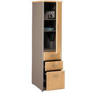 Bush Business Furniture Series A Vertical Locker Light Oak ASSEMBLED 16W x 20.25D x 66.25H - WC64375PSU