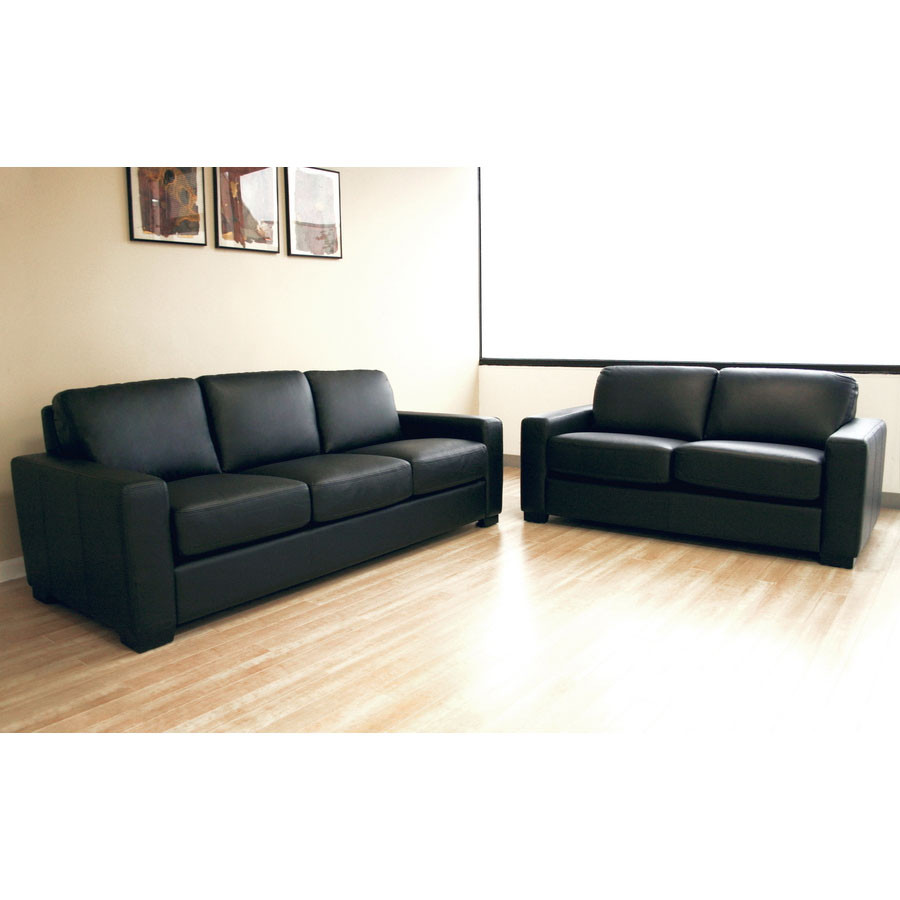 Wholesale Interiors Polixenes Leather Sofa Set (2 piece) - 830-M9812