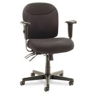 Alera Wrigley Series High Performance Mid-Back Multifunction Chair Black - WR42FB10B