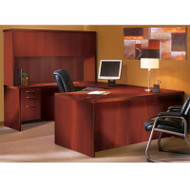 "Mayline Aberdeen Executive U-Shaped Desk 72"" w/Wood Door Hutch Package Cherry - AT4-LCR"