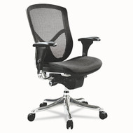 Alera EQ Series Ergonomic Multifunction Mid-Back Mesh Chair Aluminum - EQA42ME
