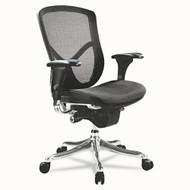Alera EQ Series Ergonomic Multifunction Mid-Back Mesh Chair Aluminum - EQA42ME