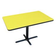 "Correll Bar and Cafe Breakroom Table Rectangle with Cross-Base 30""x42"" - BCT3042"