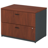 "Bush Business Furniture Series A Lateral File Cabinet in Hansen Cherry 36""W Assembled - WC94454PSU"
