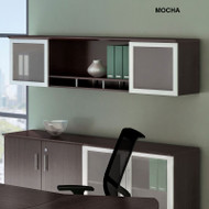 "Mayline Medina Laminate Wall Hutch 63"" Mocha - MNH63-LDC"