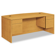 "HON 10500 Series Double 3/4 Pedestal Bow Front Desk 72"", Assembled - 10595CC"