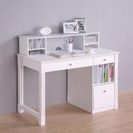 """Walker Edison Clara Wood Desk and Hutch 48"""" - DW48D30-DHWH"""