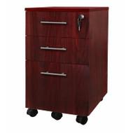 Mayline Medina Mobile Pedestal Box/Box/File Mahogany - MNBBF-LMH