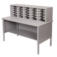 "Marvel 25 Adjustable Slot Literature Organizer Slate Gray 60""W x 30""D x 44-52""H - UTIL0027"