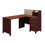 """Bush Enterprise 60""""W x 47""""D Corner Desk Solution Kit Harvest Cherry - 2999CS-03K"""