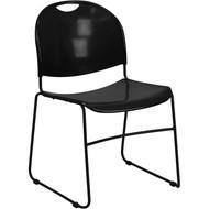Flash Furniture HERCULES Series High Density Ultra Compact Stack Chair Black - RUT-188-BK-GG